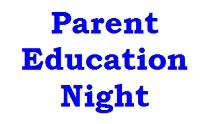 Parent Education Night, Feb 16th at High Street, 6:30-7:30pm